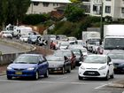 Traffic on the Tweed Heads freeway still banked up at 11am today.