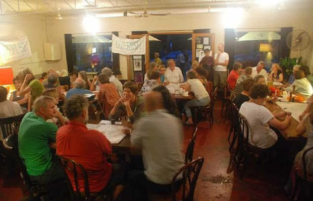 Transition Bellingen's recent World Cafe attracted a record number of people, all keen to exchange ideas about the community's future resilience.