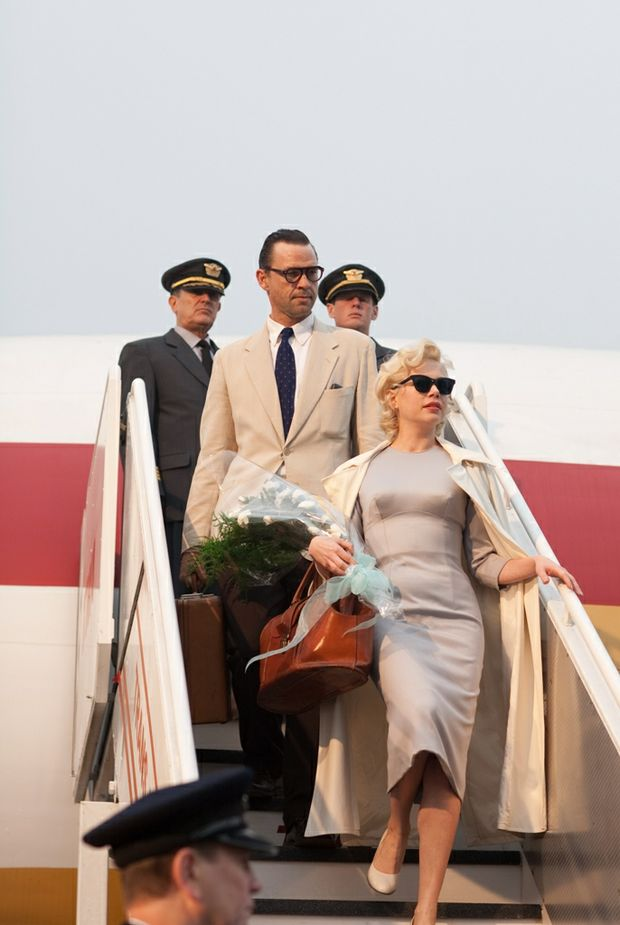 Dougray Scott and Michelle Williams in a scene from the movie My Week With Marilyn. Michelle Williams was nominated for Best Actress in My Week With Marilyn.