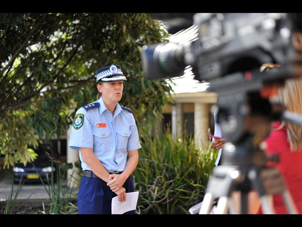 Coffs Clarence police inspector Joanne Reid briefs the media on the high speed pursuit arrests.