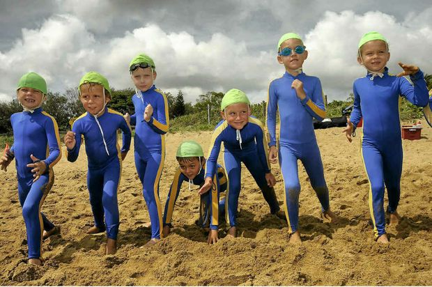 NIPPERS: Youngsters will take to the beach on Sunday for Clean Up Australia Day. Photo Kerry Thomas/The Observer