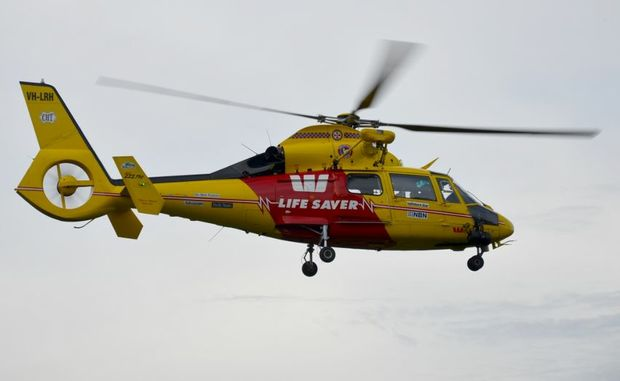 The Westpac Life Saver Rescue helicopter is helping authorities find a distress signal.