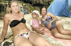Sammi Kennedy, Avalon Roberts, 2 and Siobhan O'Reilly of Byron Bay all have regular check-ups for skin cancer.