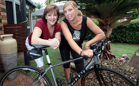 CHARITY CHALLENGE: Amanda Neville will be taking part in this years Rio Tinto Ride to Conquer Cancer after she was inspired by her friend Margaret Sarolis' battle with cancer.