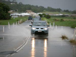 Flooded areas around Mackay