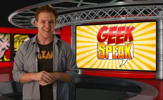 A screen-grab of one of the Geek Speak episodes hosted by Toowoomba comedian Bryce McKeon.