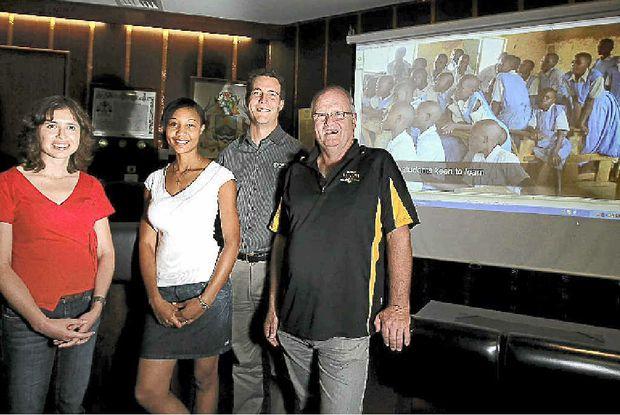 Tiffany Dobson, Hopal Grant McClintock, Nigel Dobson and Lyle Burgoyne return after a volunteer effort in Kenya.