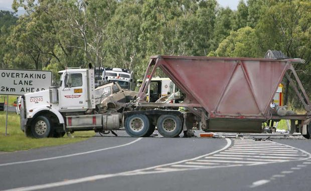 A crash involving two trucks on the Bruce Highway at The Caves on Sunday claimed the life of Emerald man Scott Boyle.
