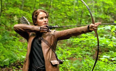 Jennifer Lawrence in scenes from the movie, The Hunger Games