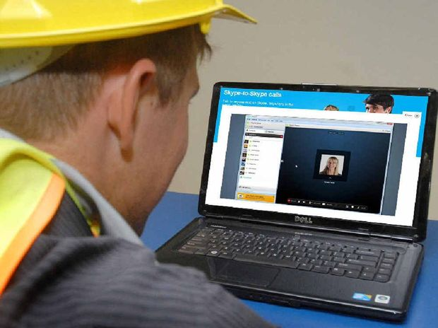 Miners working on site are opting to use Skype, which involves instant messaging through video link-ups, to communicate with their loved ones.