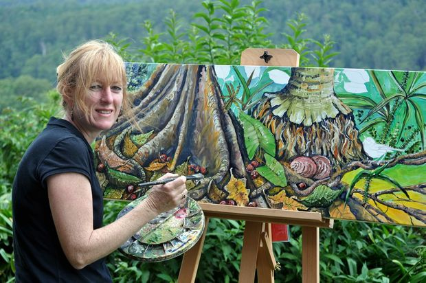 Heather Gall looks forward to creating an art hub at Tree Frog Gallery in Montville