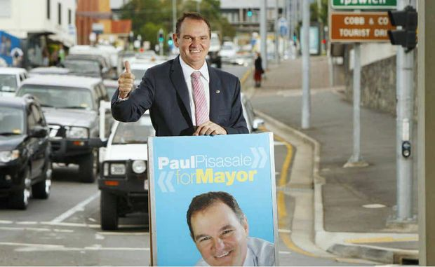 A confident Paul Pisasale launches his campaign for mayor in the coming Ipswich City Council elections. Photo: David Nielsen