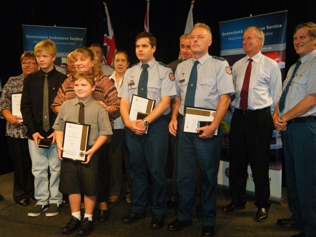 Proudly showing their awards are (back, from left)  Kay Gossow, Narelle Lovell, Andrew Simmons, Lynette Rieck, Norm Jenner, Richard Lindley, John Goudkamp, (front, from left) Christopher Chalmers, Nicholas Chalmers, Sharon Chalmers, Stephen Baigrie and David Clarke.