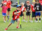Children take part in an Auskick training session.