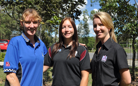 EYES OPEN: Rachel Whitford, Carrie Buttars and Stacey Clift are looking for Duke of Edinburgh nominees.