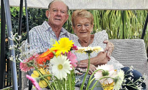 Lance and Judith Doughty, of Maroochydore, believe you're never too old to enjoy flowers.
