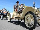 Antique cars cruise the Coast