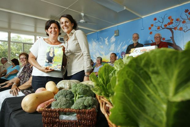 Diane Dye (left) attended a food writing seminar in Laidley hosted by TV chef Dominique Rizzo (right).