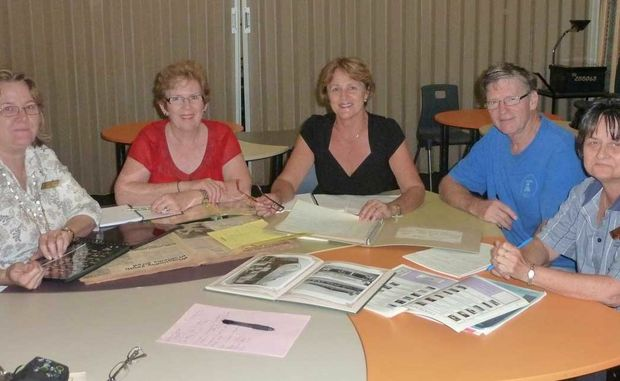 READY TO CELEBRATE: Glynis Nicolson, Carolyn Considine, Larraine Biggs, Rob Nicholls and Carol Davies have already begun preparations for Proserpine State High School's 50th Anniversary next year. photo contributed