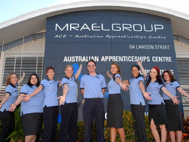 MRAEL staff Alexandria Scull, Rebekah Larsson, Glenys Franettovich, Tegan Kowitz, Jay Thomson, Niki Johnson, Kylie Mason, Madeline Ruttland and Simone Watts are happy to be expanding their business.