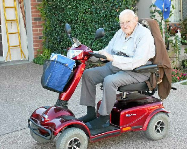 Motorised scooter driver Ross Hockley is worried he will get in trouble for taking his motorised scooter on the road when using a footpath is not physically possible.
