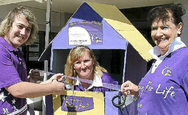 Andrew Lawson, Bill Way, Sue Arnold and Kay Tomlins hope businesses won't drag the chain for the Noosa Relay for Life.