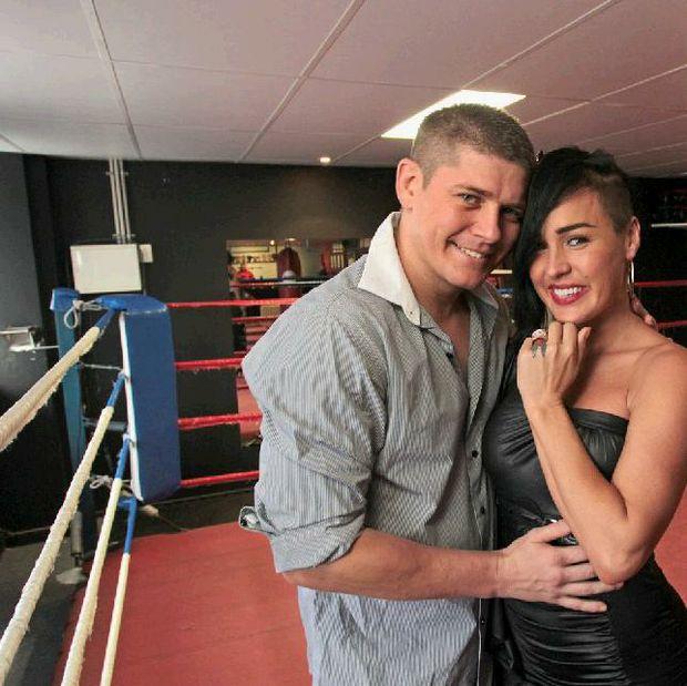 Andrew Keogh with his fiance Emmylee Anaya.