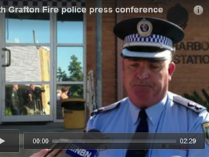 South Grafton Fire police press conference