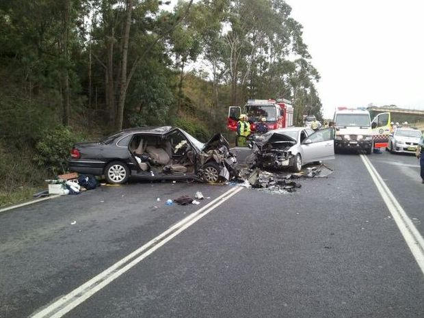 Six people have suffered life threatening injuries in a serious head-on accident on the Pacific Highway near Emerald Beach.