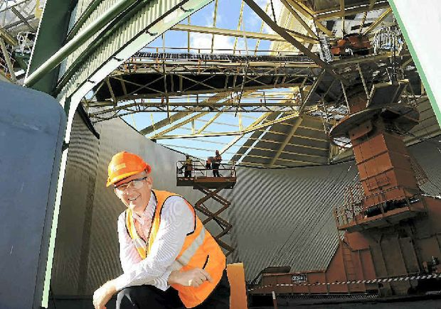 Bundaberg Sugar general manager of operations David Pickering is happy with the current progress of the new bagasse storage facility.