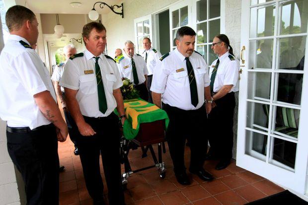 The funeral of Bob Counter at Melaleuca.