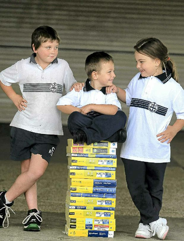 Centaur Primary School students Dylan Wilson, Brodie Smith and Bree Smith boast the most common surnames in our phone book.
