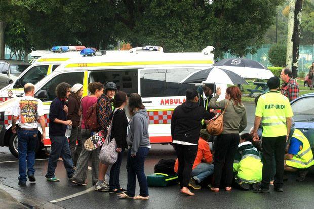 A child has been hit by a car Brisbane St, Murwillumbah.