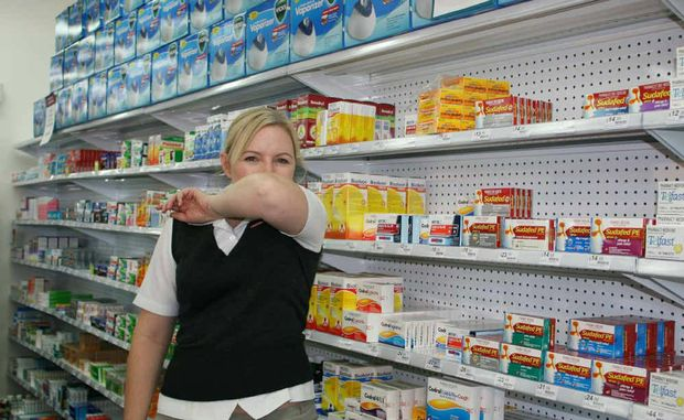 Pharmacy First's Angela Cornford says to cough into your elbow rather than hand.