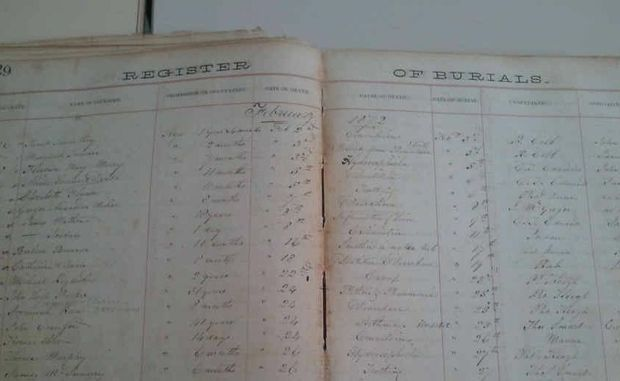 Old burial registers are a great tool for genealogical research.