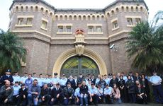 The final photo of Grafton Jail staff after the picket line disbanded on day six of the Grafton jail community picket line in 2012.