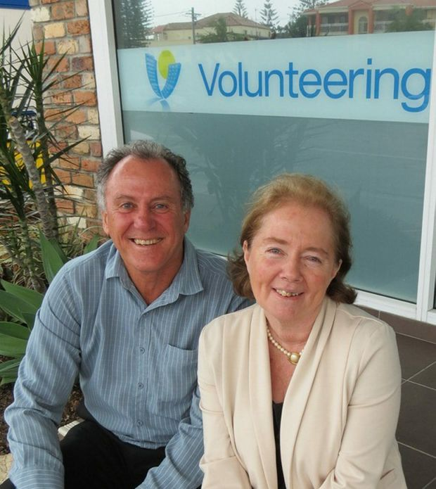 Volunteering Gold Coast's first CEO Richard Patterson and new COO Lynn Mount.