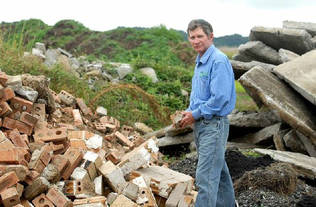 Eco Recycling's Glenn Cain says his plan to improve Mackay's recycling rate is at standstill.