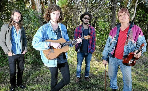 Ben Livermore, Reilly Fitzalan, Garrett Kayto and Andy Holm performed as buskers at last year's Splendour In The Grass.