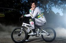 Caroline Buchanan has taken the top seed in the women's BMX time trial.