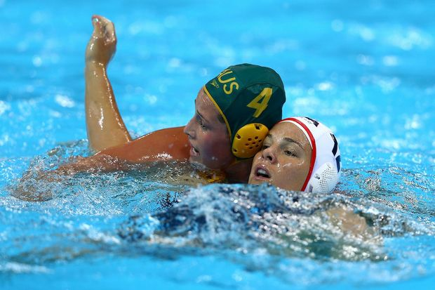 The United States has defeated Australia 11-9 in the women's water polo semi-final.