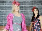 Allie McLennan and Kasey-Lee Flack sporting the Casino Cup and some of the fashion on offer for this year's race meet.