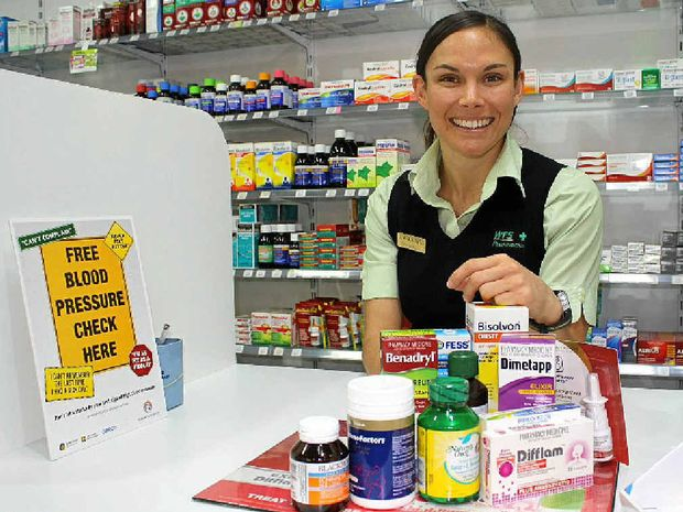 Pharmacist Jacqueline Henricks is helping Warwickites battle cold and flu this season.