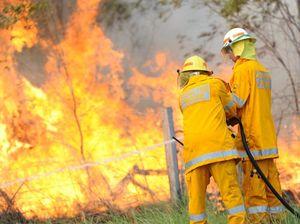Grass fire burning in Mount Archer National Park