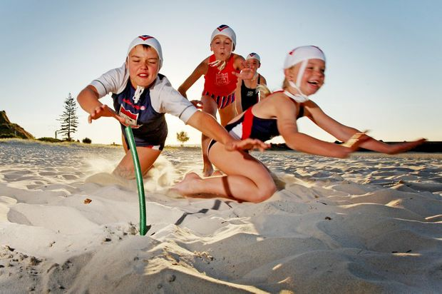 Nippers Zandah Watson, Amadeus Bellenger, Ella Hogben and Claire Rendall are ready for the new season.