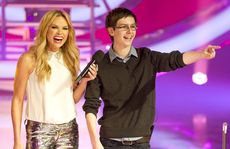 Big Brother host Sonia Kruger pictured with housemate Bradley.