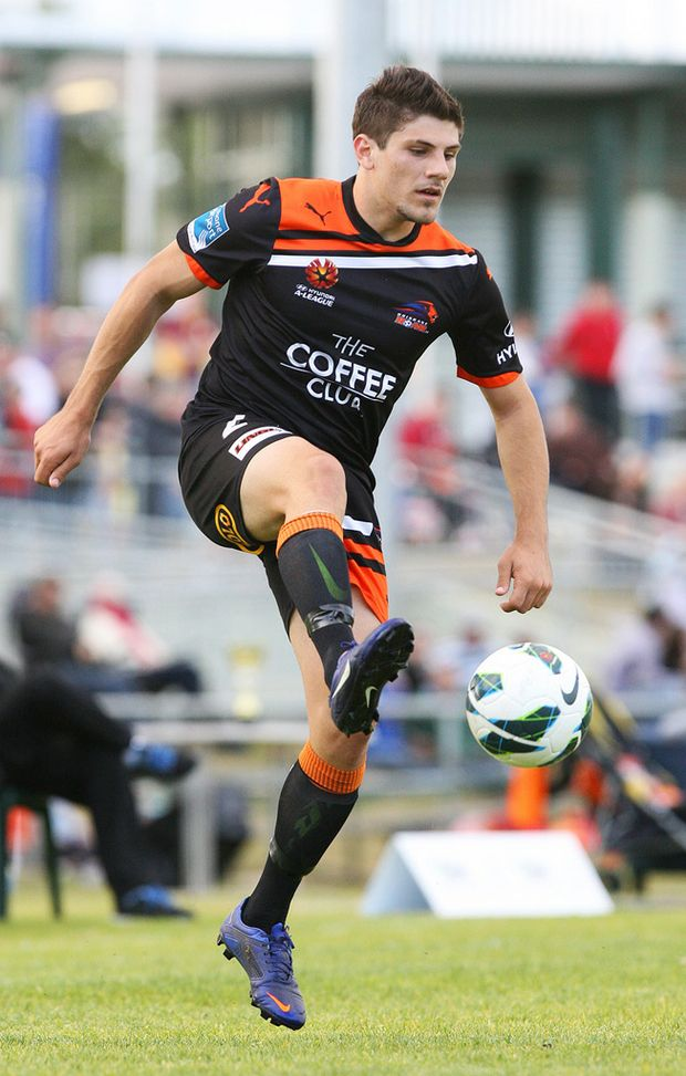 Brisbane Roar player in action during a match against a representative Ipswich side on Sunday August 12.