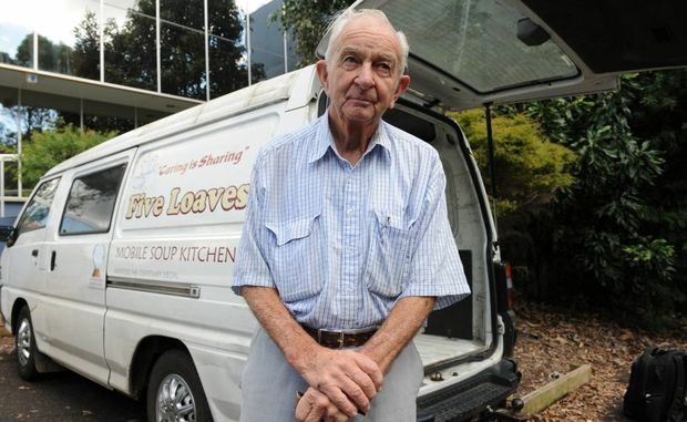 Darcy Goodwin, who passed away last week, with one of his vans that was stolen last night.
