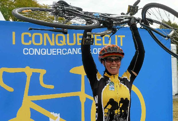 Leanne Cameron rode 200km to raise money for research in the fight against cancer.