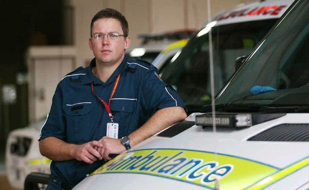 Paramedic and United Voice union delegate Alistair Vagg is worried about potential job cuts to the ambulance service.